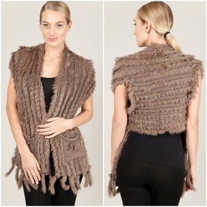 Mischa Barton Aspen Fur Vest